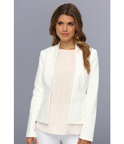 Badgley Mischka - Kissing Front Jacket (Ivory) Women's Jacket