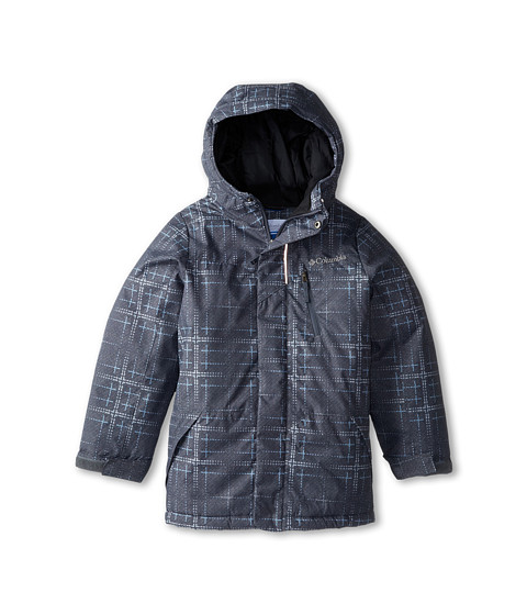 Columbia Kids - Eager Air Long Jacket (Little Kids/Big Kids) (Graphite Print/Black) Boy's Coat