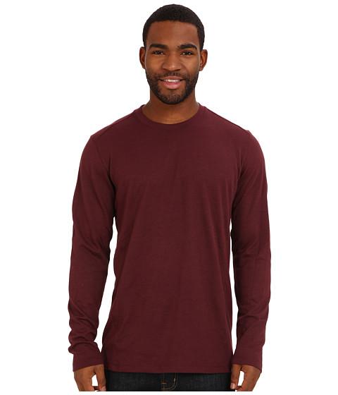 Prana - Porter L/S (Mahogany) Men's T Shirt