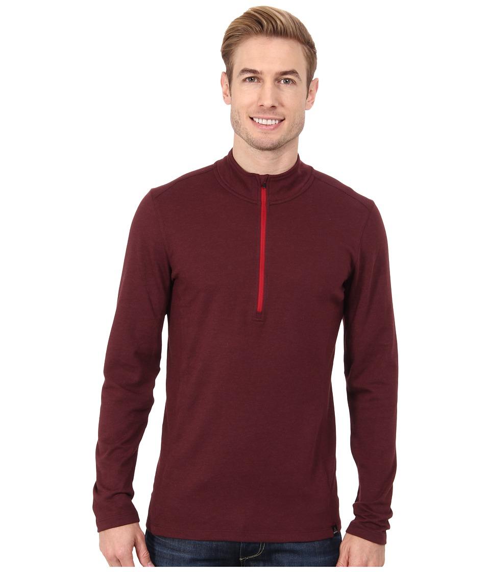 Prana - Porter 1/4 Zip (Mahogany) Men's Long Sleeve Pullover