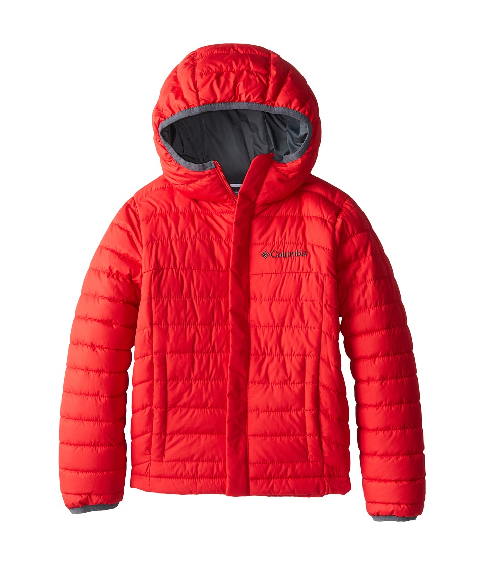 Columbia Kids - Powder Lite Puffer (Little Kids/Big Kids) (Bright Red/Graphite) Boy