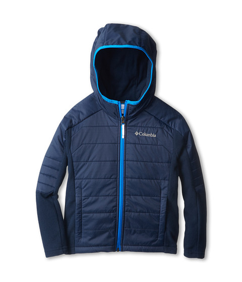 Columbia Kids - Fast Trek Hybrid (Little Kids/Big Kids) (Collegiate Navy/Hyper Blue) Boy's Coat