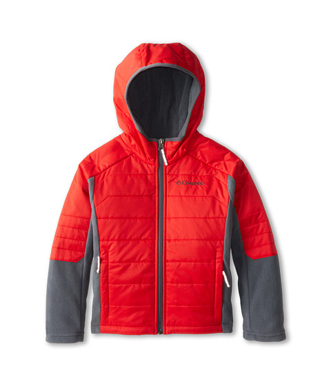 Columbia Kids - Fast Trek Hybrid (Little Kids/Big Kids) (Bright Red/Graphite) Boy's Coat