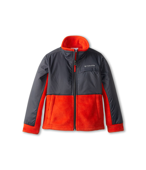 Columbia Kids - Steens Mountain Overlay (Little Kids/Big Kids) (State Orange/Graphite) Boy's Coat