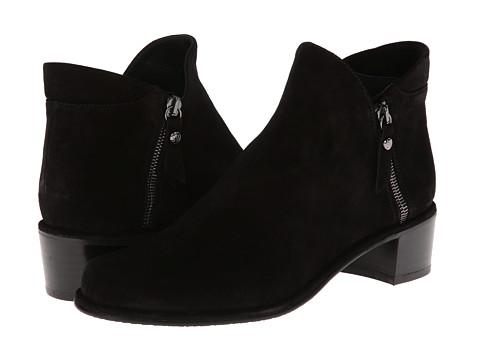 Stuart Weitzman - Zipdown (Nero Velour) Women's Zip Boots