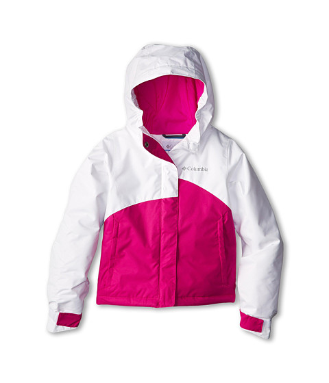Columbia Kids - Crash Out Jacket (Little Kids/Big Kids) (White/Groovy Pink) Girl's Coat