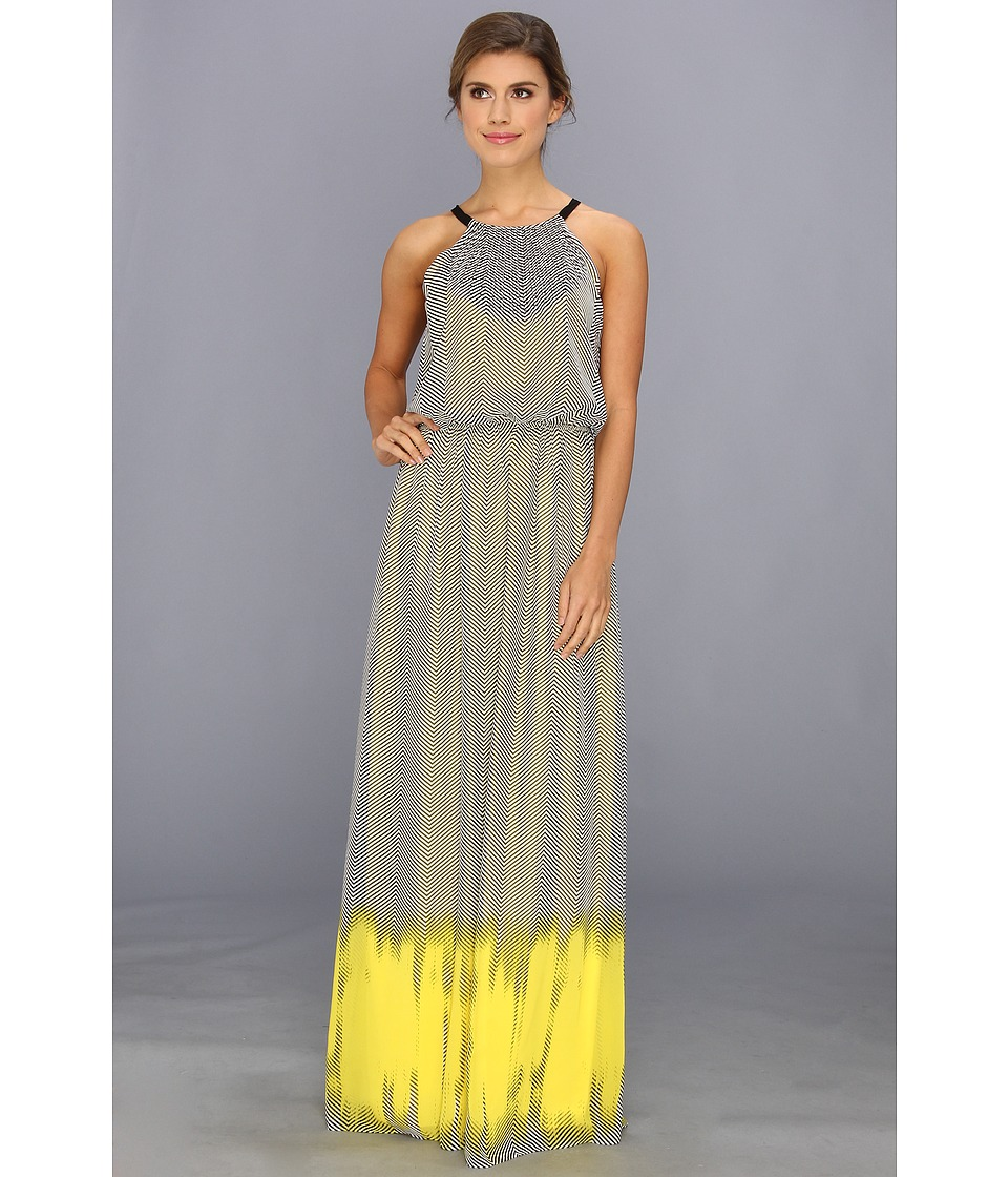 Vince Camuto - Ombre Halter Maxi Dress (Neon Glow) Women's Dress