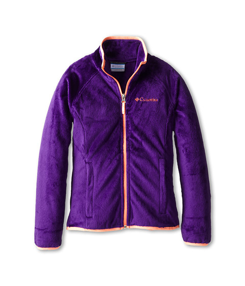Columbia Kids - Pearl Plush Full Zip (Little Kids/Big Kids) (Hyper Purple/Coral Glow) Girl