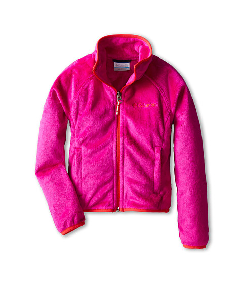 Columbia Kids - Pearl Plush Full Zip (Little Kids/Big Kids) (Groovy Pink/Red Hibiscus) Girl's Coat