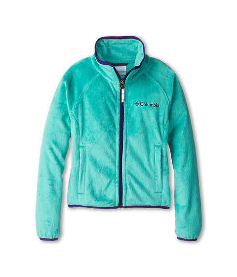 Columbia Kids - Pearl Plush Full Zip (Little Kids/Big Kids) (Oceanic/Hyper Purple) Girl's Coat