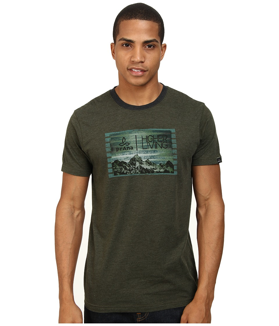 Prana - Higher Living Tee (Dark Olive) Men's T Shirt