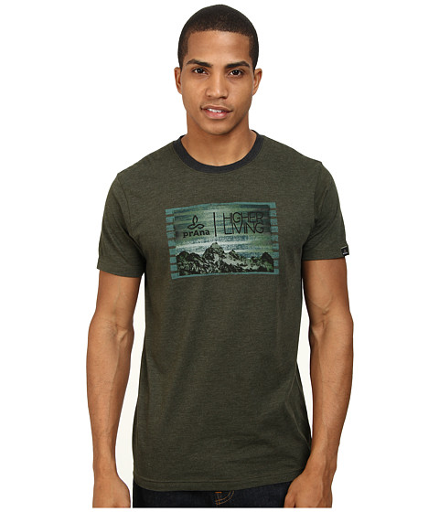 Prana - Higher Living Tee (Dark Olive) Men