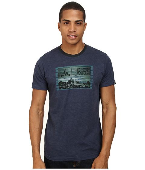 Prana - Higher Living Tee (Dress Blue) Men's T Shirt