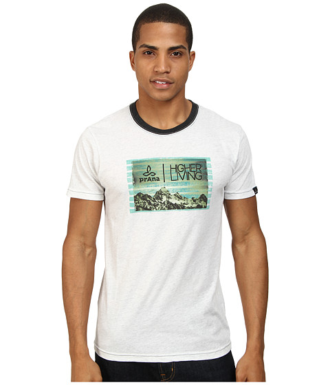 Prana - Higher Living Tee (White Ash) Men's T Shirt