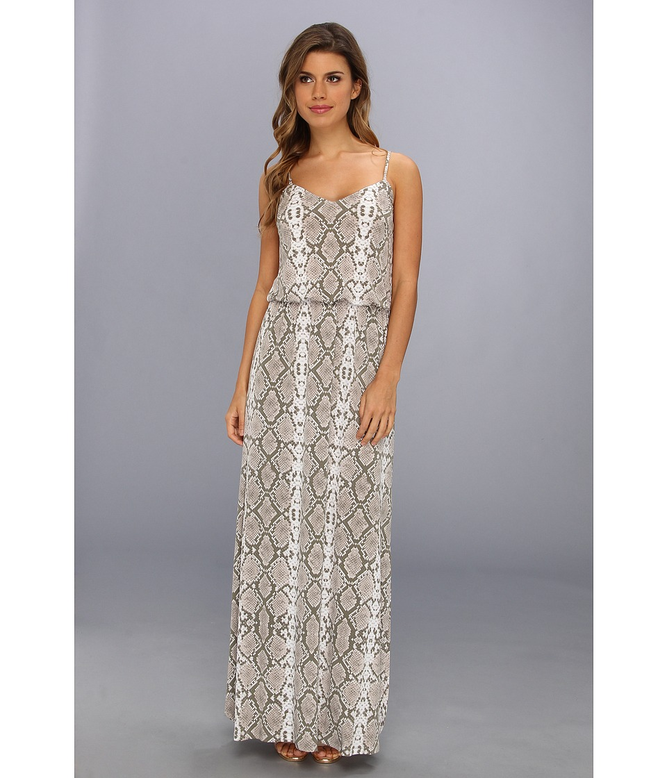 Vince Camuto - Printed Spaghetti Strap Blouson Maxi Dress (Rattle) Women's Dress