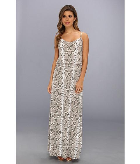 Vince Camuto - Printed Spaghetti Strap Blouson Maxi Dress (Rattle) Women