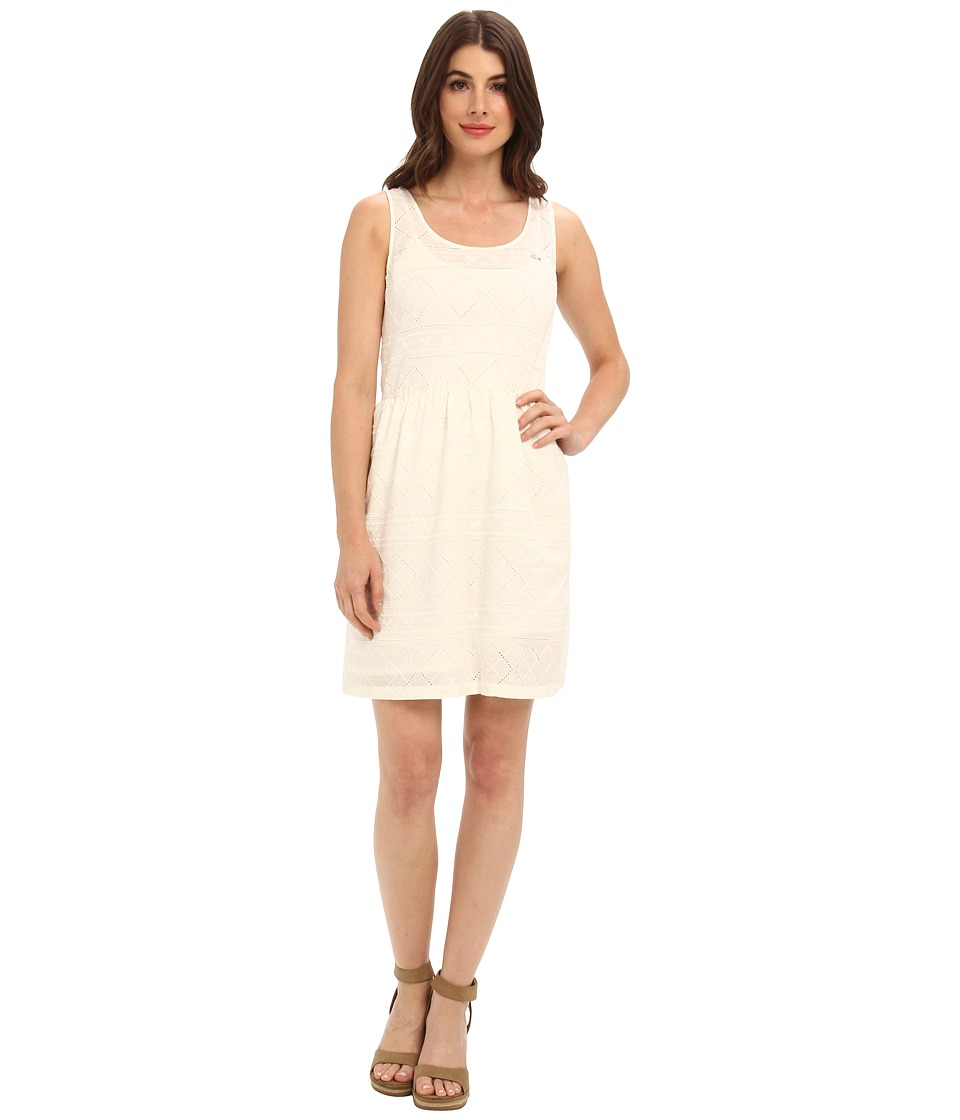 Lacoste L!VE Sleeveless Embroidered Tank Dress (Cake Flour White) Women