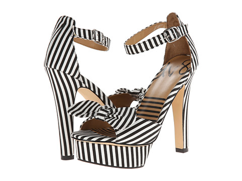 DV8 - Perla (Black/White Stripe) High Heels