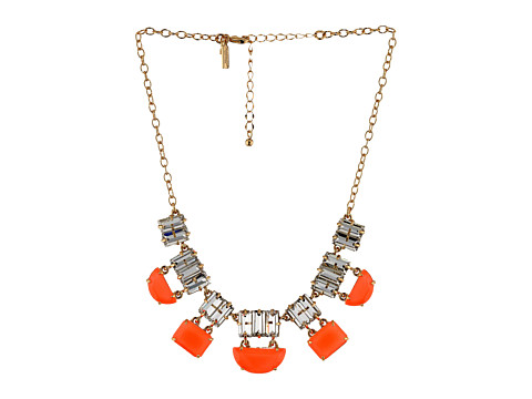 Kate Spade New York - Varadero Tile Short Necklace (Clear/Surprise Coral) Necklace