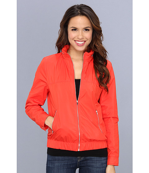 Lacoste - Nylon Jacket (Volcanic Orange) Women's Coat