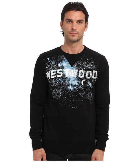 Vivienne Westwood MAN - Milky Way Printed Sweatshirt (Black) Men's Sweatshirt