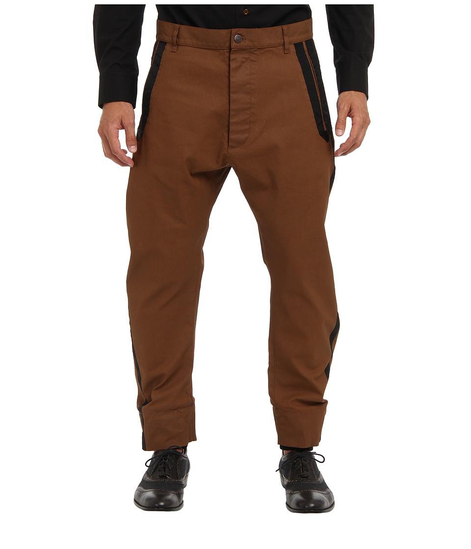Vivienne Westwood MAN - Samurai Stretch Coated Cotton Trouser (Tobacco) Men