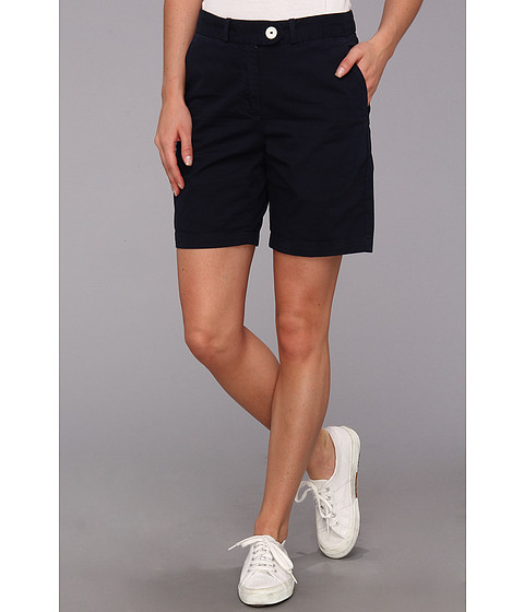 Lacoste - Stretch Gab Bermuda Short (Navy Blue) Women