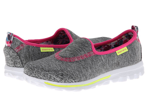 SKECHERS KIDS - Go Walk 81047L (Little Kid/Big Kid) (Grey/Multi) Girls Shoes