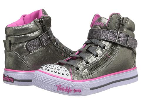 SKECHERS KIDS - Twinkle Toes-Shuffles Lights 10405L (Little Kid/Big Kid) (Gunmetal) Girls Shoes