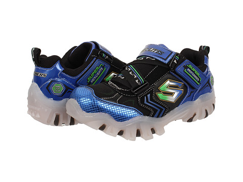 SKECHERS KIDS - Street Lightz - Spektra 90474L Lights (Little Kid) (Blue/Black) Boys Shoes