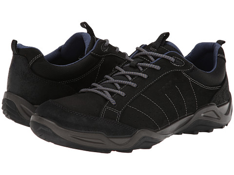 ECCO Sport - Sierra II (Black/Black/Denim Blue) Men's Shoes