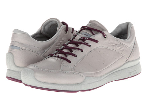 ECCO Sport - Biom Hybrid Walk Low (Silver Grey/Burgundy) Women