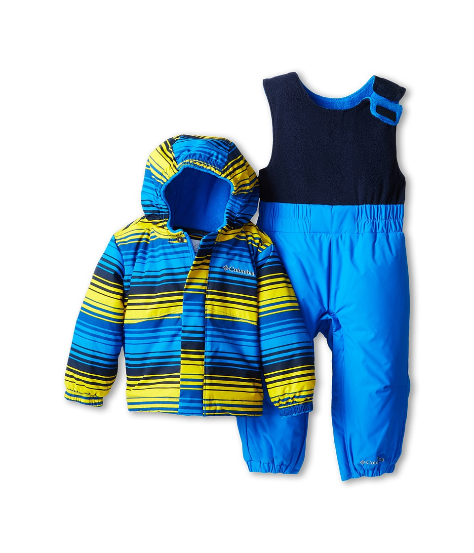 Columbia Kids - Fresh Pow Set (Infant/Toddler) (Hyper Blue Print/Hyper Blue/Collegiate Navy) Kid's Active Sets