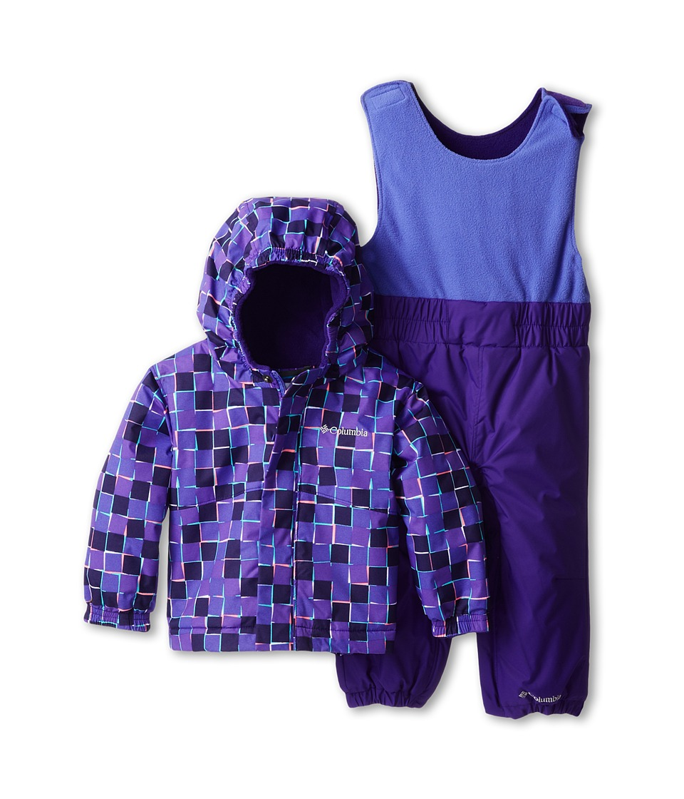 Columbia Kids - Fresh Pow Set (Infant/Toddler) (Purple Lotus Print/Hyper Purple) Kid's Active Sets