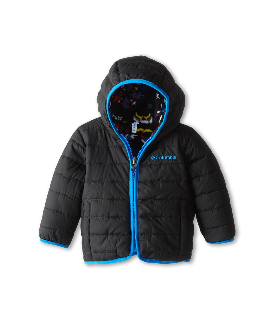 Columbia Kids - Double Trouble Jacket (Infant) (Black/Black Animal Print/Hyper Blue) Kid's Coat