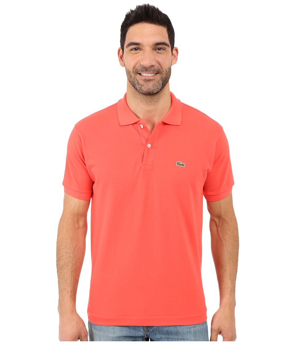 Lacoste - L1212 Classic Pique Polo Shirt (Fusion Pink) Men's Short Sleeve Knit