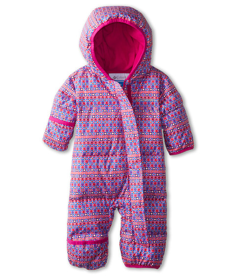 Columbia Kids - Snuggly Bunny Bunting (Infant) (Blue Macaw Print/Groovy Pink) Kid's Jumpsuit & Rompers One Piece