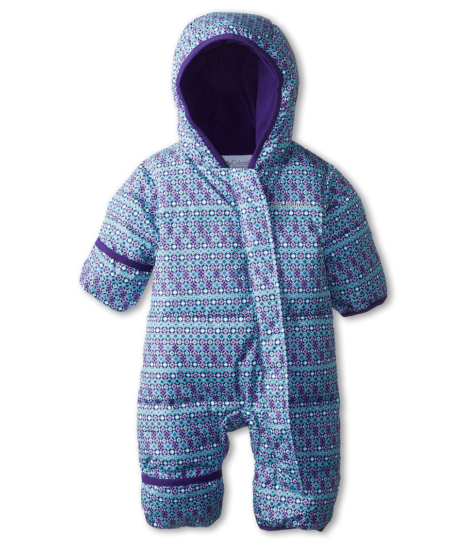 Columbia Kids - Snuggly Bunny Bunting (Infant) (Oceanic Print/Hyper Purple) Kid's Jumpsuit & Rompers One Piece