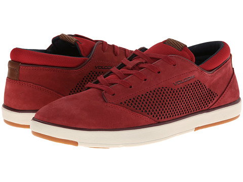 Volcom - Quinn (Brick Nubuck Leather) Men's Lace up casual Shoes