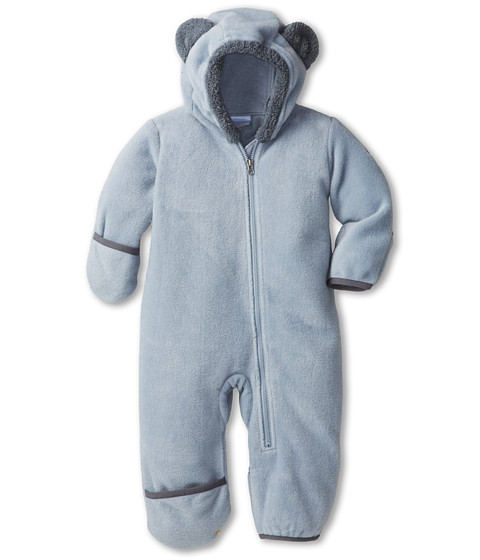Columbia Kids - Tiny Bear II Bunting (Infant) (Tradewinds Grey/Graphite) Kid's Jumpsuit & Rompers One Piece