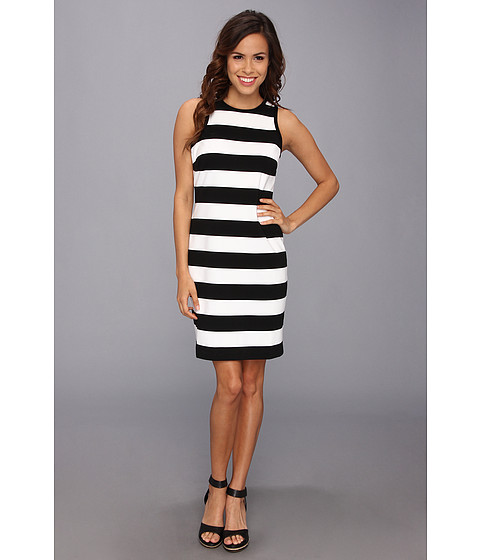 Karen Kane - Exposed Zipper Dress (Stripe) Women's Dress
