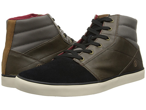 Volcom - Grimm Mid (Chestnut Brown Full Grain Leather/Suede) Men