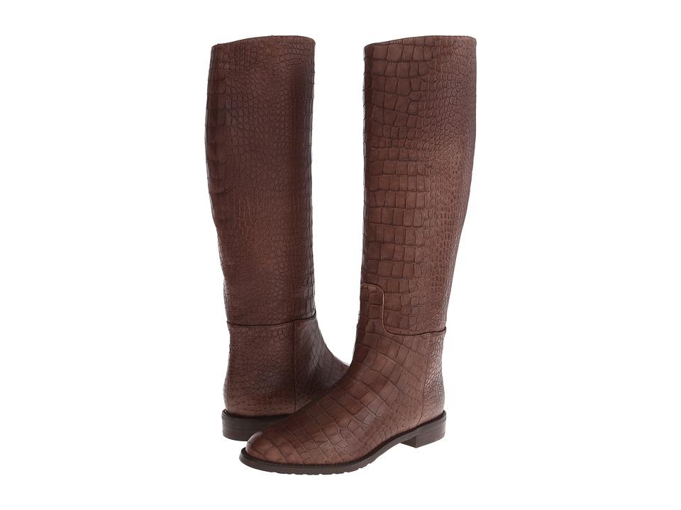 Stuart Weitzman - Equine (Espresso Soft Croco) Women's Pull-on Boots