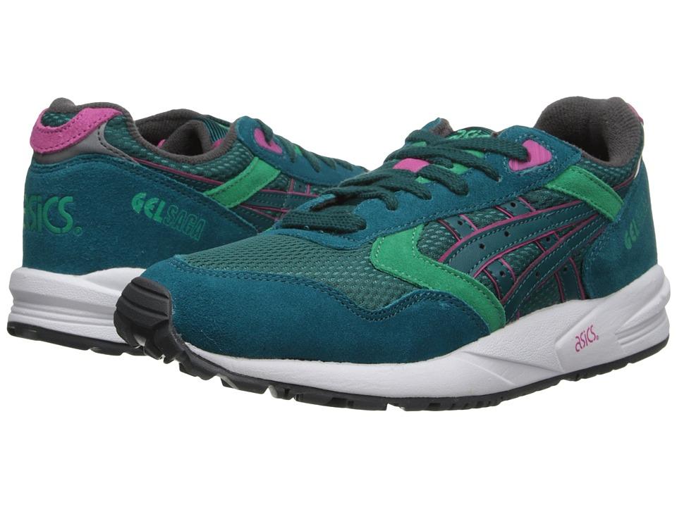 Image of Asics Gel Saga Women US 10 Green Sneakers