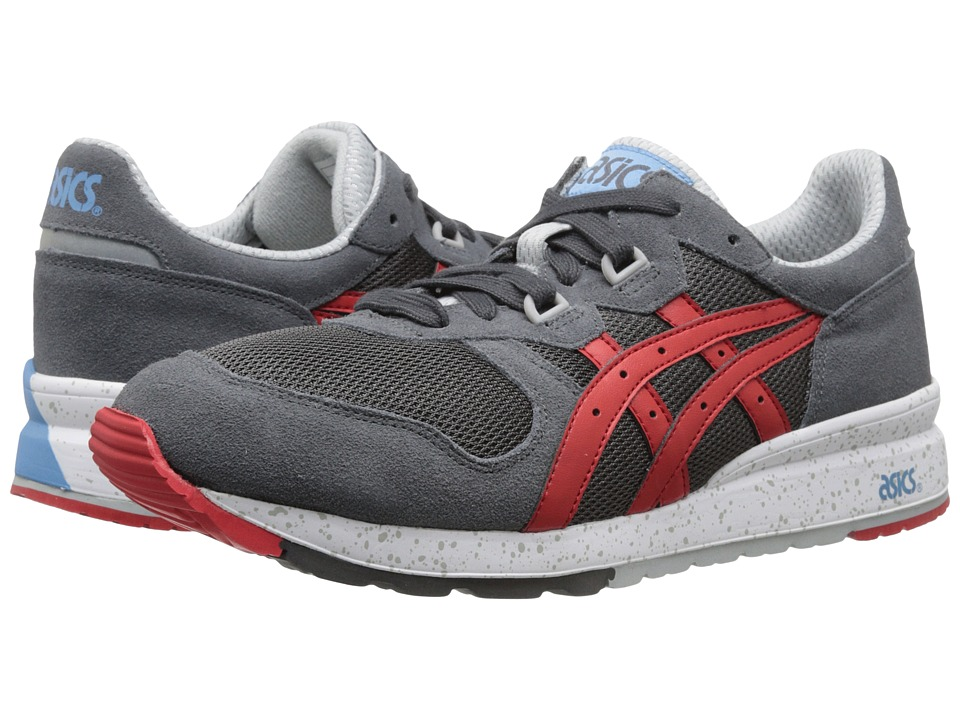 Onitsuka Tiger by Asics - Gel-Epiris (Dark Grey/Fiery Red) Lace up casual Shoes
