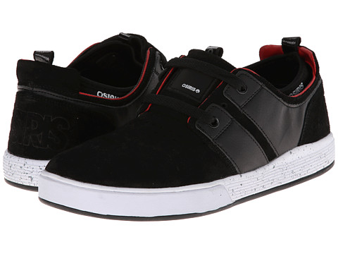 Osiris - Duffel Kickback (Black/Red/White) Men's Skate Shoes