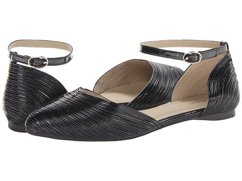 Wanted - Miley (Black Patent) Women's Flat Shoes
