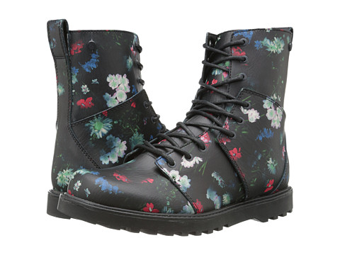 Volcom - Go Figure (Black Floral Print) Women's Lace-up Boots
