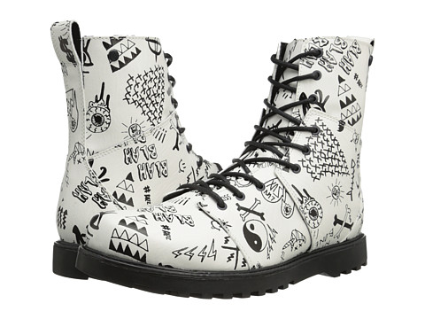 Volcom - Go Figure (White/Black) Women's Lace-up Boots
