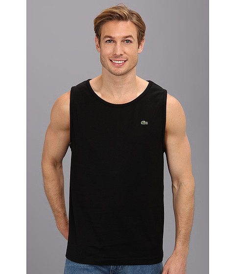 Lacoste - Cotton Jersey Tank Top (Black) Men